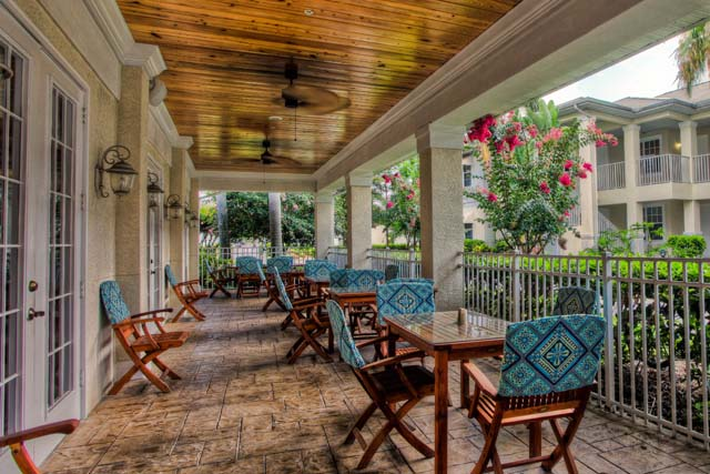 Community Patio - Villa for rent at 3604 54th Drive West, K104, Bradenton, FL 34210 - MLS Number is 360454TH104