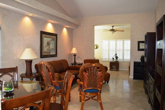 Dining and Living Room - Villa for rent at 3605 54th Drive West, L204, Bradenton, FL 34210 - MLS Number is 360554TH204