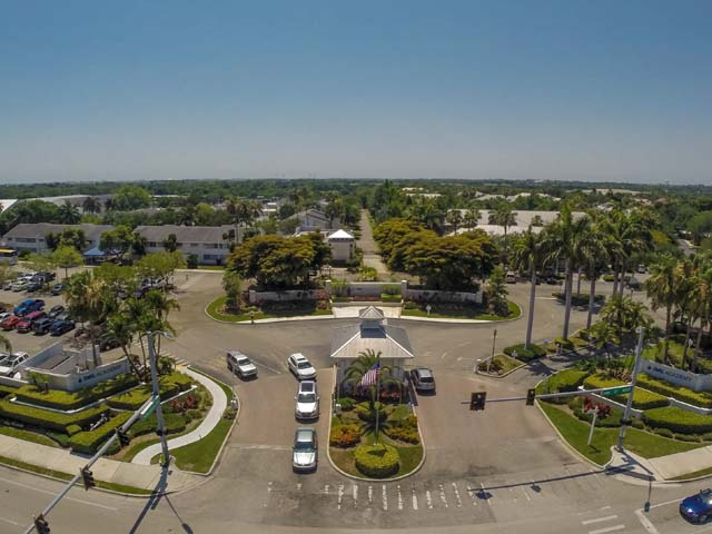 Aerial view of entrance to IMG - Villa for rent at 3702 54th Drive West, Q203, Bradenton, FL 34210 - MLS Number is 370254TH203