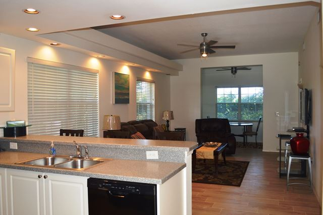 Kitchen / Living Room - Villa for rent at 3803 54th Drive West, O104, Bradenton, FL 34210 - MLS Number is 380354TH104