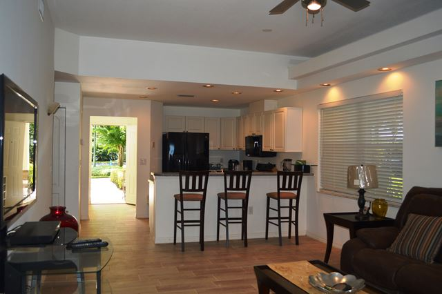 Living / Kitchen Area - Villa for rent at 3803 54th Drive West, O104, Bradenton, FL 34210 - MLS Number is 380354TH104