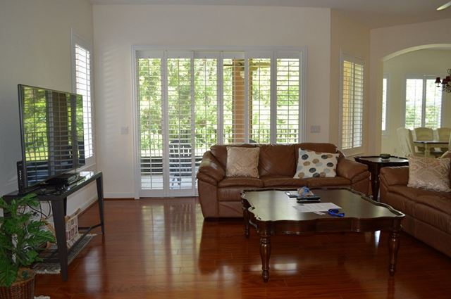 Living Room with Preserve View - Villa for rent at 5425 46th Court West, Bradenton, FL 34210 - MLS Number is 542546TH