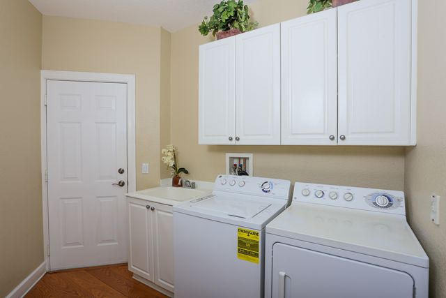 Laundry Room and door to garage - Villa for rent at 5441 46th Court West, Bradenton, FL 34210 - MLS Number is 544146TH