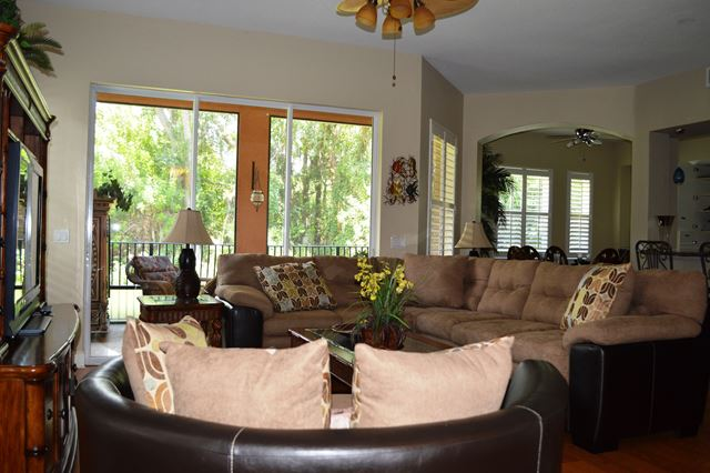 Living Room / Entrance - Villa for rent at 5441 46th Court West, Bradenton, FL 34210 - MLS Number is 544146TH