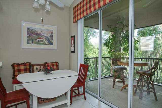 Breakfast Nook overlooking Lanai - Villa for rent at 5461 46th Court West, #403, Bradenton, FL 34210 - MLS Number is 546146TH403