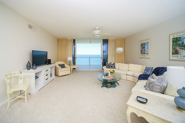 Living Room - Condo for rent at 1800 Benjamin Franklin Dr, #A904, Sarasota, FL 34236 - MLS Number is 1800BENFA904