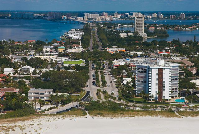 Aerial View - Condo for rent at 1001 Benjamin Franklin Dr, #506, Sarasota, FL 34236 - MLS Number is 1001BENJ506